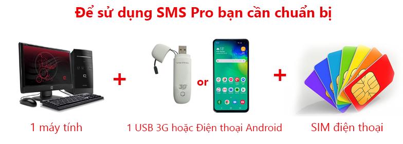 Chuẩn bị sử dụng SMS Pro